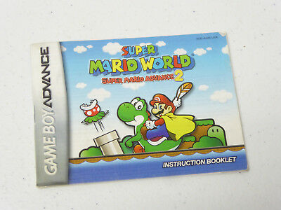 Instruction Booklet! for Super Mario World Nintendo GameBoy Advance