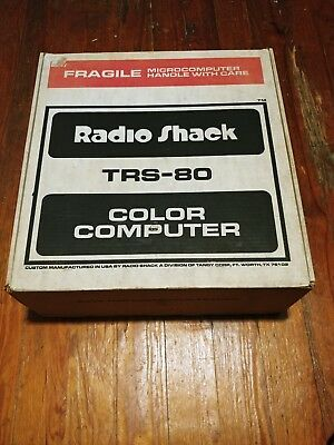 VINTAGE Tandy Radio Shack Color Computer MINT IN BOX MANUALS (LOW SERIAL #)