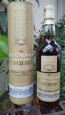 GLENDRONACH 21 Jahre Old PARLIAMENT Single Malt Whisky 48% 0,7L