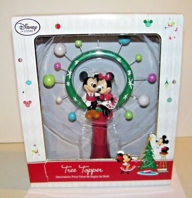 Disney Store Exclusive Mickey & Minnie Mouse Christmas Tree Star Topper Holiday