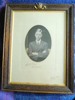 King Edward VIII wonderful signed photo whilst at Oxford Uiversity 1914