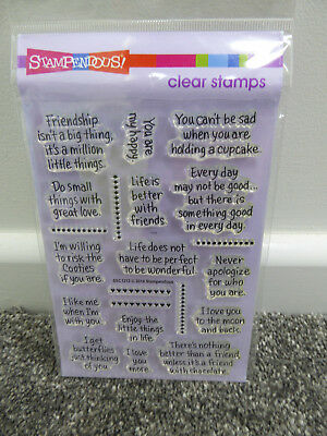Stampendous Clear Sentiment Stamps - LIfe Words *** NEW ***