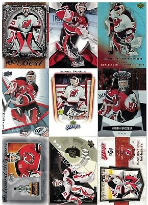 NHL Player Tradingcard Lot – Martin Brodeur – New Jersey Devils - 20 Cards