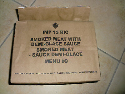 "Kanadische Ration Menu Nr. 9 ""Smoked meat with demi-glace sauce"""