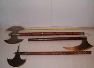 3 Piece Medieval Viking Battle Axes, Free Shipping