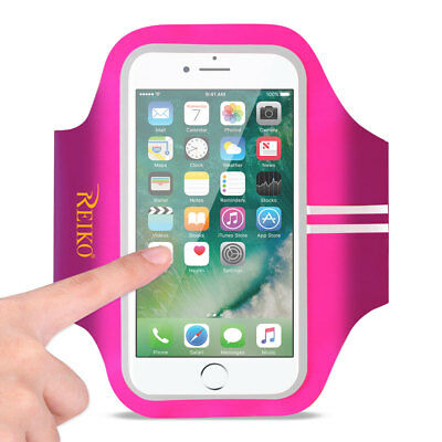 Reiko Running Sports Armband For iPhone 7/ 6/ 6S Or 5 Inches Device In Pink (5X5