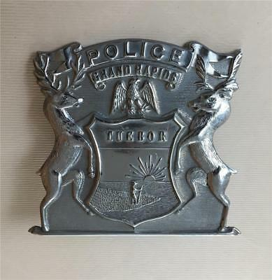 Police Hat Badge from Grand Rapids, Michigan in Kent County from 1950s & 1960s