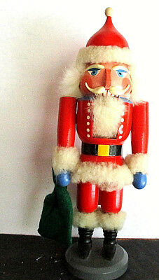 """Large, Wooden """"Santa"""" Nutcracker, by Expertic, Hand-painted. Made in Germany"""
