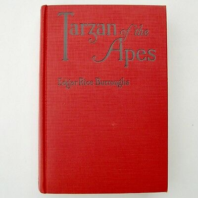 Tarzan of the Apes by Edgar Rice Burroughs, Grosset and Dunlap 1939 fine, fac dj