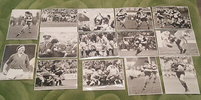 RUGBY UNION ORIGINAL PRESS PHOTO SELECTION - Fourteen from 1980s (nice variety)