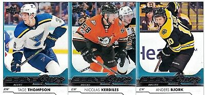 NHL Rookie Tradingcard Lot – 17-18 Upper Deck Young Guns – 3 Cards