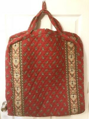 f207eee00009 VERA BRADLEY Long Hanging Clothes GARMENT BAG Retired RED 1991 PERFECT