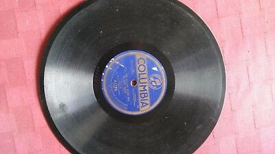 Vintage Columbia Graphophone Company Record, A1729, Billy Williams