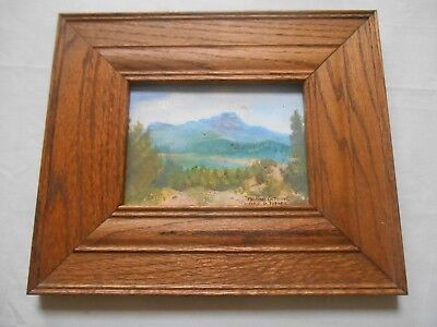 Vintage Arts And Crafts Solid Oak Mission Style Frame Fits 7 X 5 Inch Extra Wide