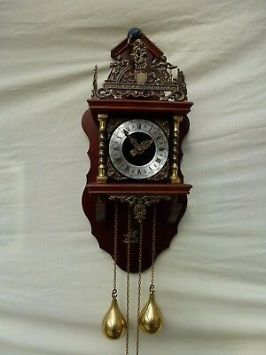 Vintage Twin Weight Dutch Wall Clock