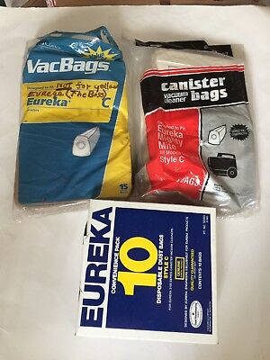 Vtg Eureka Mighty Mite Canister Vacuum Cleaner Bags Style C 40 New