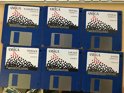 Commodore Amiga Version 3.1 OS Disks 6 total