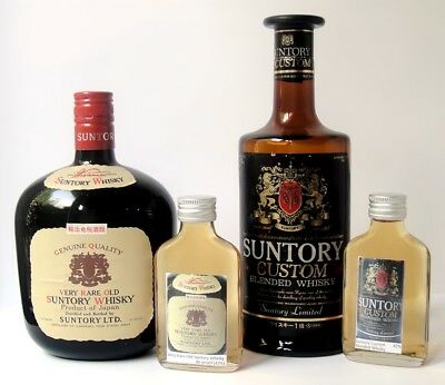 Sample - 100ml Very Rare Old Suntory Whisky 43% +100ml Suntory Custom Whisky 42%