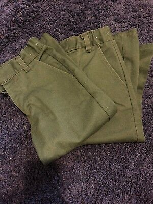 2 Pairs - FRENCH TOAST SCHOOL UNIFORM BOYS GREEN PANTS SIZE 4