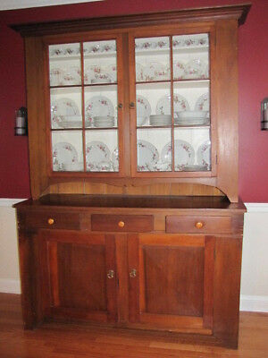 Late 19th Century Antique Step Back Cupboard