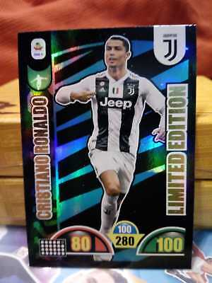 CARD calciatori Adrenalyn XL 2018 19 Panini CRISTIANO RONALDO Limited Edition