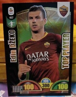 CARD calciatori Adrenalyn XL 2018 19 Panini Edin DZEKO TOP PLAYER nr.467