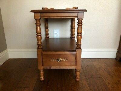 Tell City Chair Company Night Table Nightstand 8514 Andover Hard Rock Maple
