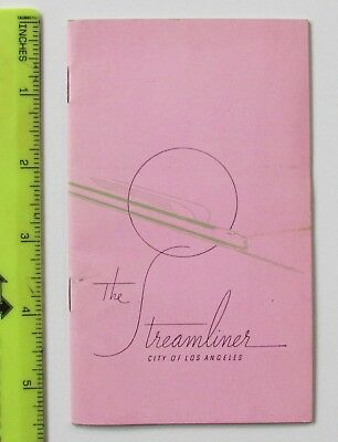 "UP C&NW - The ""Streamliner"" City of Los Angeles - 1930's Name Train Booklet"