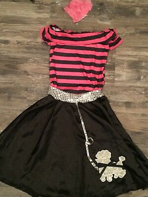 Nifty Fifties: adult women Halloween costume 50s hop poodle skirt scarf SMALL