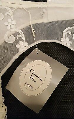 Vintage Christian Dior White Suspender Belt (With tags)