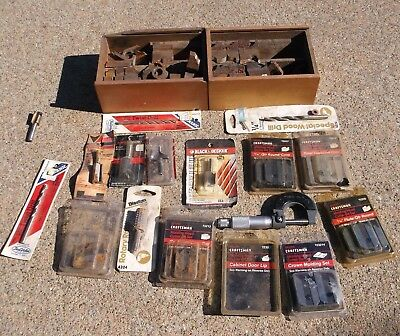 Lot of 40+ Machinist Tools Bits Blade Micrometer Ect Craftsman Disston Some NIP