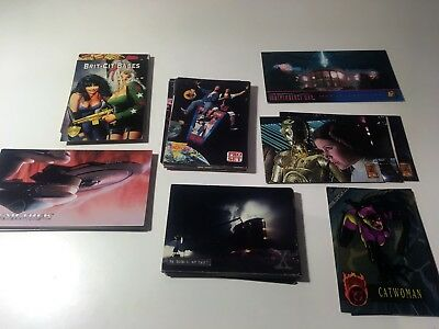 Mixed 90s Sci-Fi Collectors trading cards Star Trek, Star Wars, 2000AD, X-Files