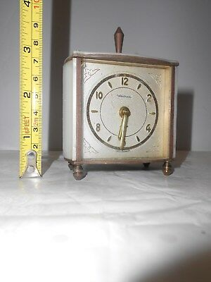Clock Table Waltham  Marble Case - Very Old - 1890 - 1930? Beautiful Heavy!