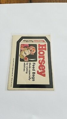 1976 Topps Wacky Packages Original 16th Series 16 HORSEY