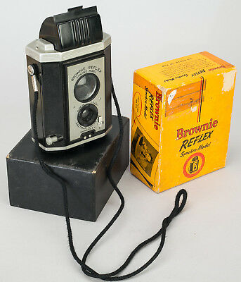 Vintage Kodak Brownie Reflex Synchro Model Original Box