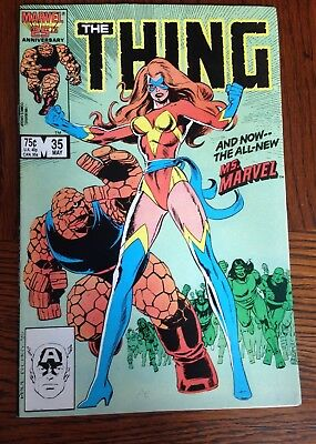 THE THING #35 (1986, MARVEL) 1st App. of THE  NEW MS. MARVEL Key Book. NM