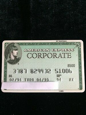 American Express Corporate Green Card - Expired 4/95