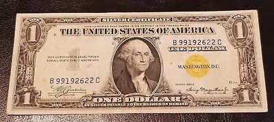 1935 A North Africa Silver Certificate $1 Dollar Bill Yellow Seal Nice Condition