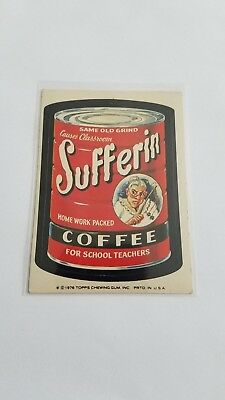 1976 Topps Wacky Packages Original 16th Series 16 SUFFERIN