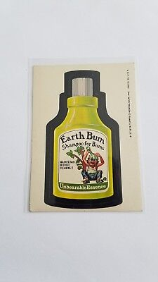 1976 Topps Wacky Packages Original 16th Series 16 EARTH BUM
