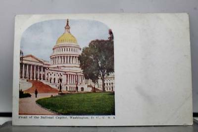 Washington DC National Capitol Front Postcard Old Vintage Card View Standard PC