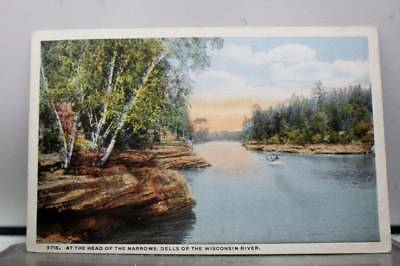 Wisconsin WI River Dells Narrows Head Postcard Old Vintage Card View Standard PC