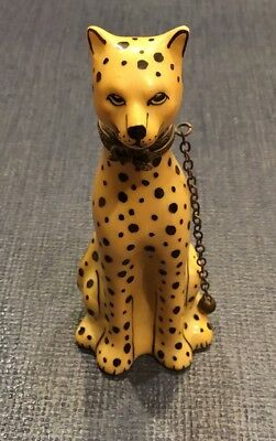 Limoges Leopard Hinged Trinket Box Signed Numbered Lovely WOW!