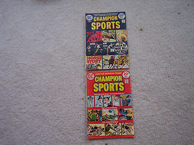 Lot of 2 DC Comic Champion Sports #1 No 1 Champion Sports #3 No 3 well read used