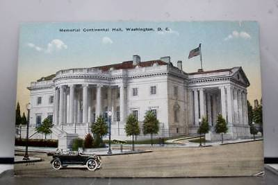 Washington DC Memorial Continental Hall Postcard Old Vintage Card View Standard
