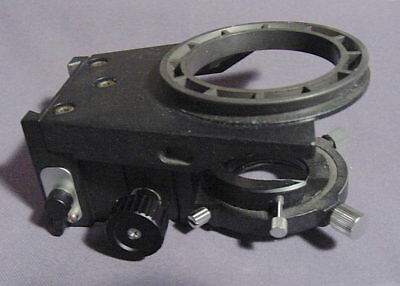 Nikon microscope Microphot stage and condenser carrier