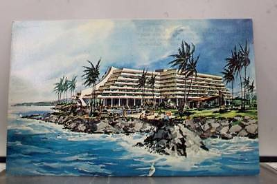 Hawaii HI Kailua Kona Big Island Coast Hilton Hotel Postcard Old Vintage Card PC