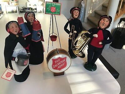 6 Pc. SUPERB Byers Choice SALVATION ARMY CAROLER FIGURINES Set #1 MINT CONDITION