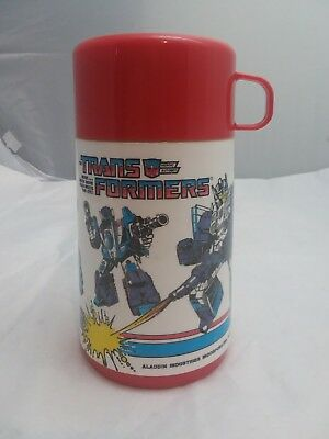 1980's Transformers G1 vintage aladdin  Lunchbox Thermos optimus prime
