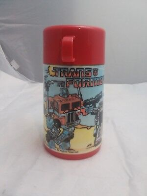 1980's Transformers G1 vintage Lunchbox Thermos  optimus prime Megatron